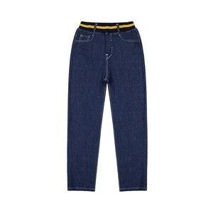 Image 4 - Inverno Dei Jeans per I Bambini Più di Velluto Caldo Pantaloni di Cotone Solido Blu Ragazzi Dei Jeans Scarni Dei Pantaloni Grandi Vestiti Del Ragazzo Adolescente Allentato pantaloni