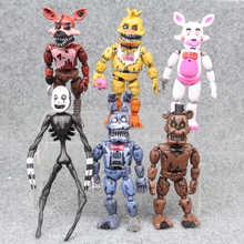 14.5-17cm 6pcs/lot PVC Five Nights At Freddy's Action Figure FNAF Bonnie Foxy Freddy Fazbear Bear Dolls Toys