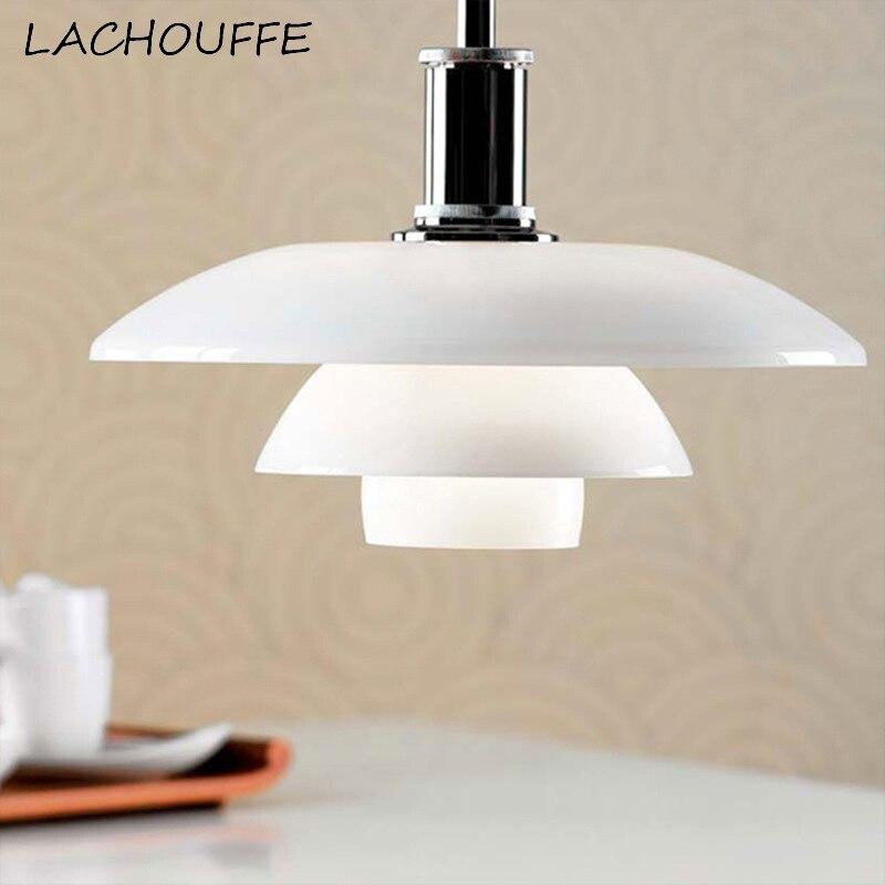 Pendentif LED rétro nordique allume la lampe en verre de conception classique pour la lampe de barre de café de chambre à coucher luminaires de décor d'art de Suspension de Luminare