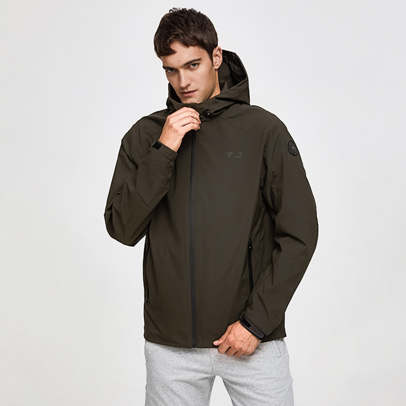 Tiger Force 2019 Men's Spring Jackets Hooded Casual Windbreaker Plus Size Fashion Bomber Jacket Windproof Man Coat Outerwear