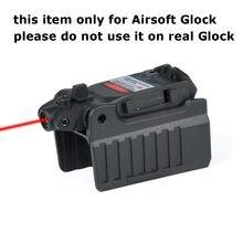 Taktyczne Micro celownik z czerwonym laserem dla Airsoft Glock 17 19 22 23 25 26 27 28 31 32 33 34 35 37 38 żelaza widok z tyłu