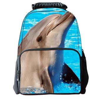 New Hot Cute Dolphin Student Bag High Quality Breathable Ridge Backpack Fashionable Environmentally Felt Animal Backpack