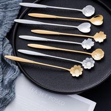 Cherry Blossom Small Spoon Cute Creative Stainless Steel Long Handle Coffee Stirring Ice Cream Honey Dessert