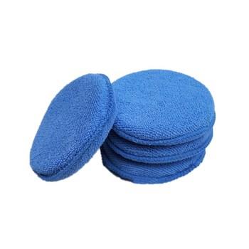 Miękka mikrofibra aplikator wosku Pad gąbka do mycia do nakładania i usuwania wosku Auto Care 5 sztuk lub 10 sztuk do wyboru tanie i dobre opinie LISHEN Microfibre(surface) Sponge(inside) Use for car polish wax applicators 5inch