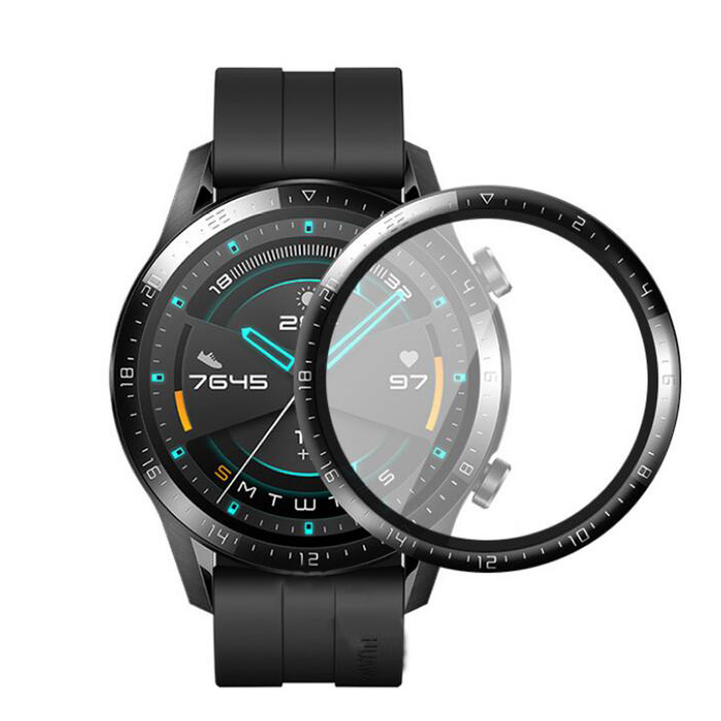 3D Curved Edge Soft Clear Protective Film Full Cover For Huawei Watch GT 2 46mm GT2 Smartwatch LCD Screen Protector (Not Glass)