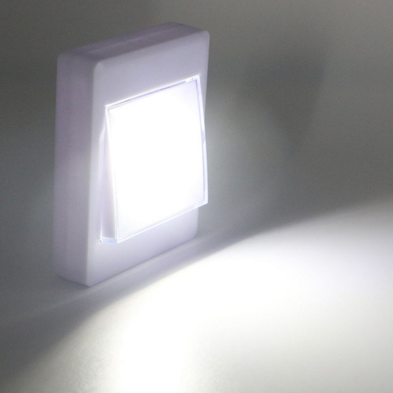 3W LED Wall Switch Wireless Closet Cordless Lighting Light Luces Led Decoración Dormitorio 4 AAA Battery Night Light