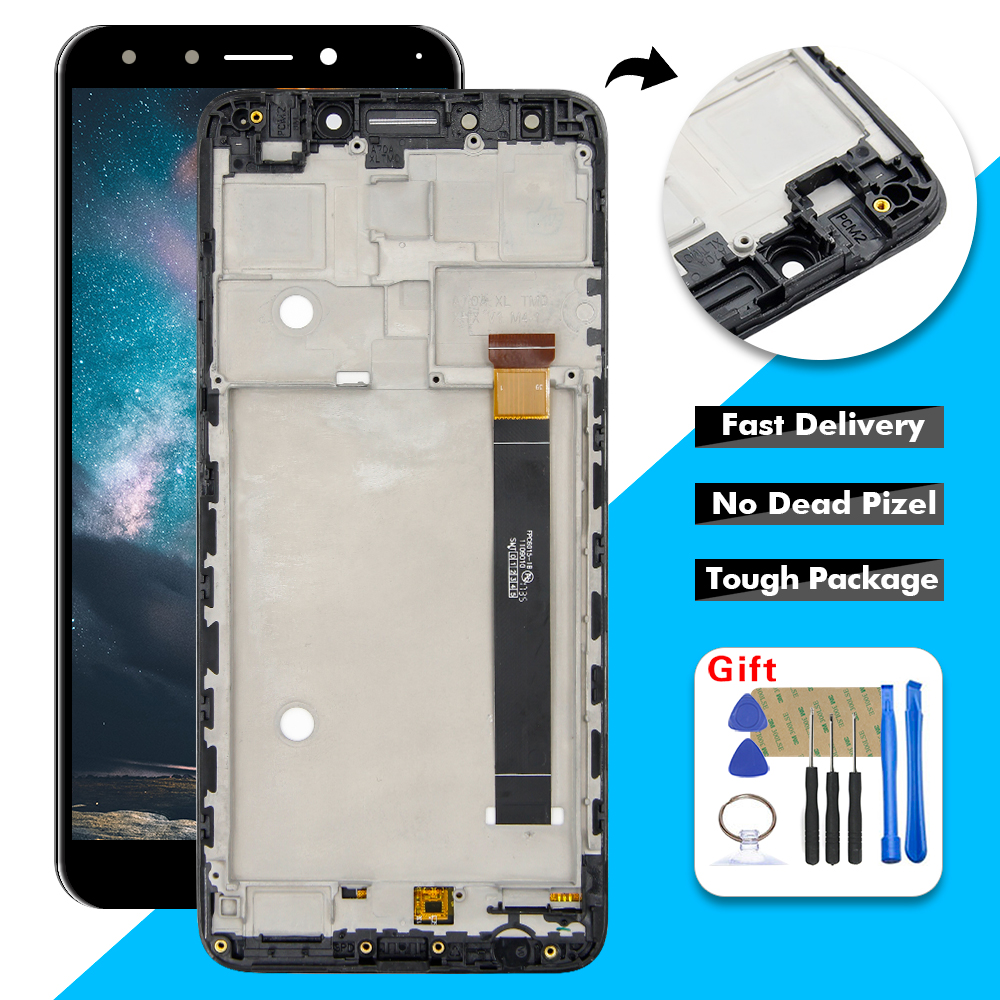 For Alcatel 7 OT6062 6062 6062W 6062T Revvl 2 Plus 6062Z LCD Display Touch Screen Digitizer Assembly With Frame