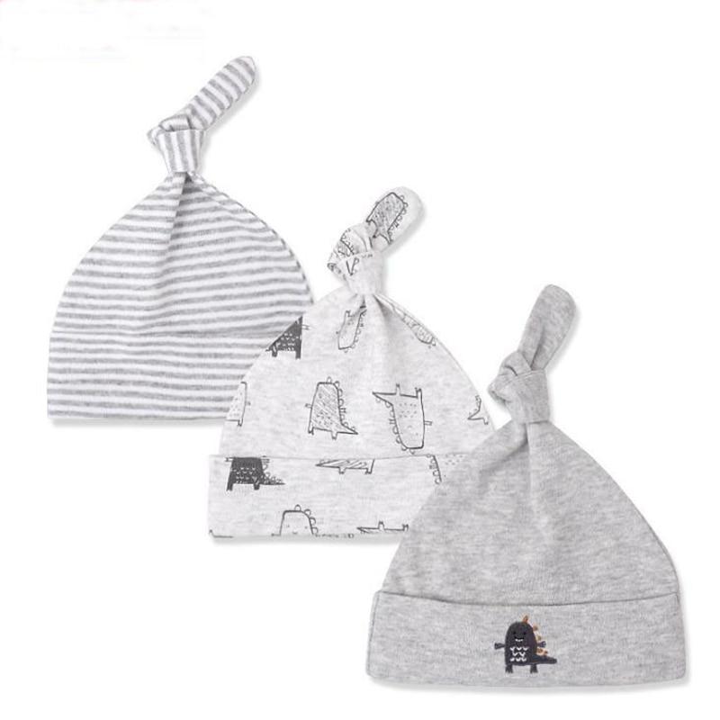 Baby hats 0-6 months neonatal cotton fetal caps 3