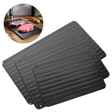 Fast Defrosting Tray Thaw Frozen Food Meat Fruit Quick Defrosting Plate Board  Thaw Master Home Use fast defrosting tray thaw frozen food meat fruit quick defrosting plate board defrost kitchen gadget tool