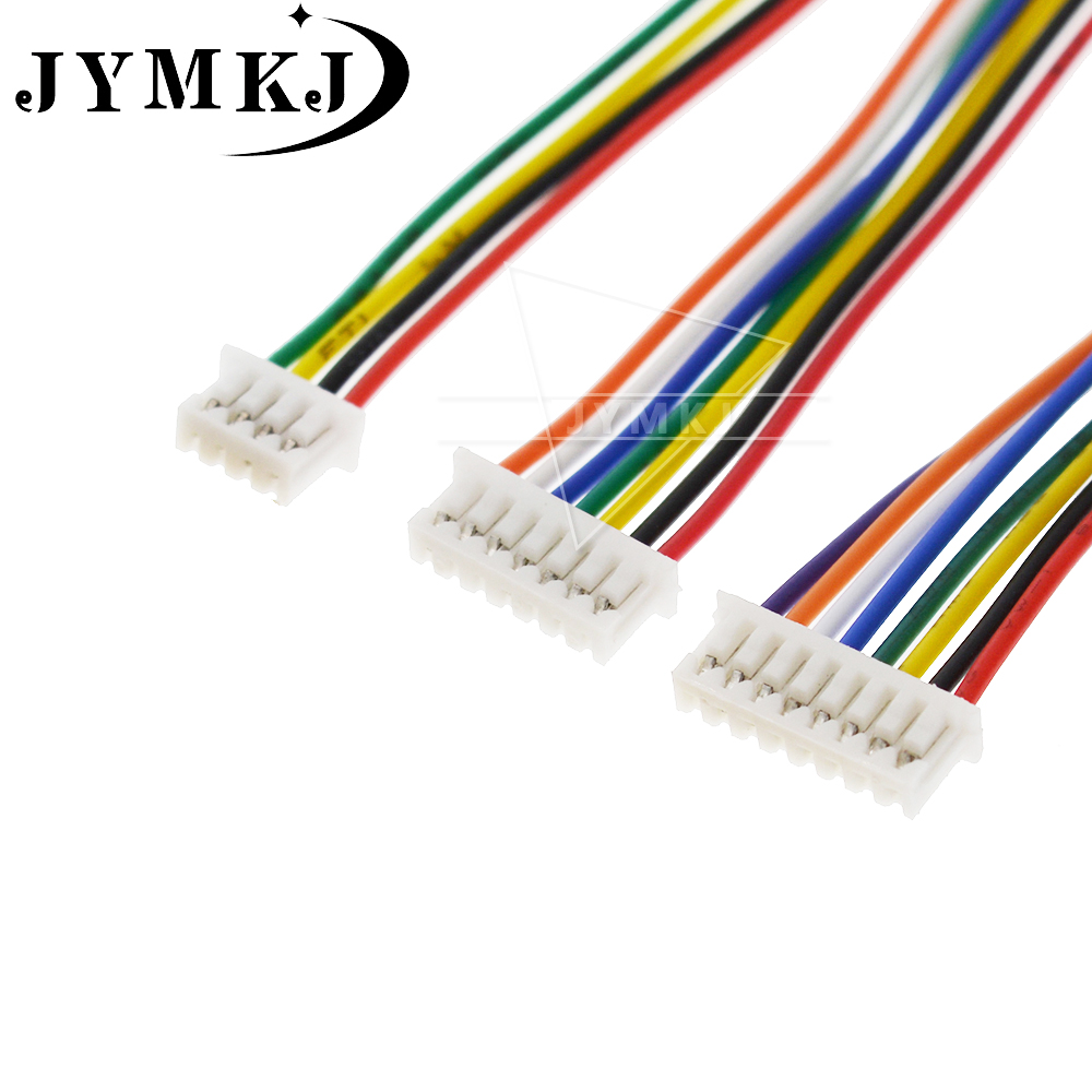 10PCS mini micro JST 1.25 2/3/4/5/6/7/8/9/10 pin female plug connector with wire 1.25MM 2p/3p/4p/5p/6p/7p/8p/9p/10p cable 100MM image