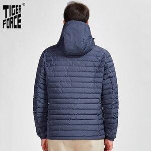 Image 3 - جاكيت رجالي مخطط جديد 2020 من Tiger Force بجيوب عالية الجودة جاكيت رجالي للخروجات اليومية معطف رجالي دافئ سوستة 50629