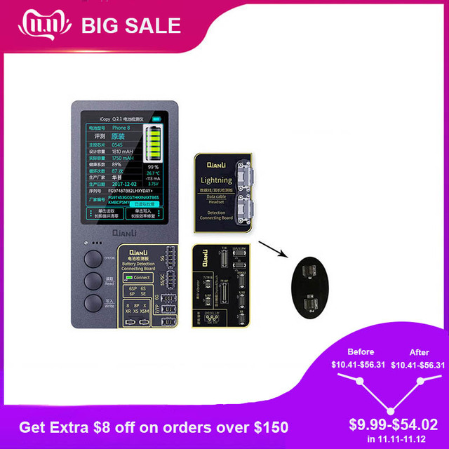 Qianli ICopy Plusหน้าจอLCDสีเดิมซ่อมโปรแกรมเมอร์สำหรับโทรศัพท์11 Pro Max XR XSMAX XS 8P 8 7P 7การสั่นสะเทือน/Touchซ่อม