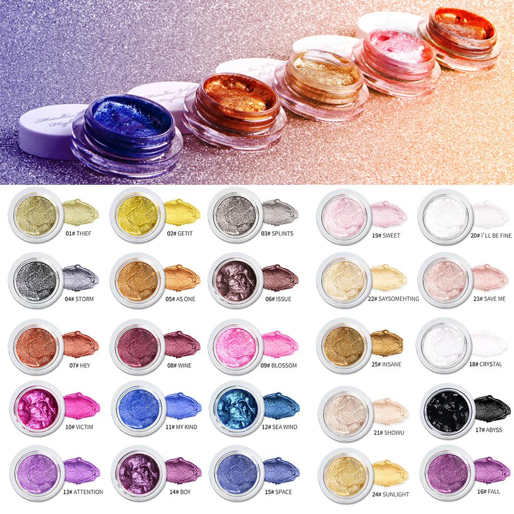25 color Jelly Eye Shadow Gel Cream Brightening High gloss Wet Paste Monochrome in Eye Shadow from Beauty Health