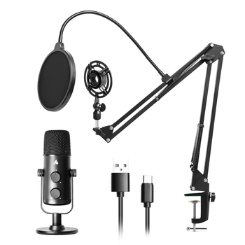 MAONO AU-903S USB Condenser Microphone Professional Streaming PC Mic With Arm Stand Shock Mount Pop Filter For Tiktok YouYube 1