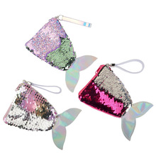 Fashion Sequins Mermaid Wallet Woman Cute Girl Change Money Bag Coin Purse Clutch Hand XH32