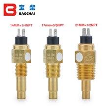 Vdo 1/2 npt 21mm rosca do motor diesel sensor de temperatura do óleo sensor de temperatura da água para gerador conjunto