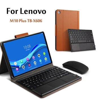 レノボタブ M10 Fhd プラスワイヤレス Bluetooth キーボード TB-X606F TB-X606X 10.3 ''tablet 磁気取り外し可能なカバー