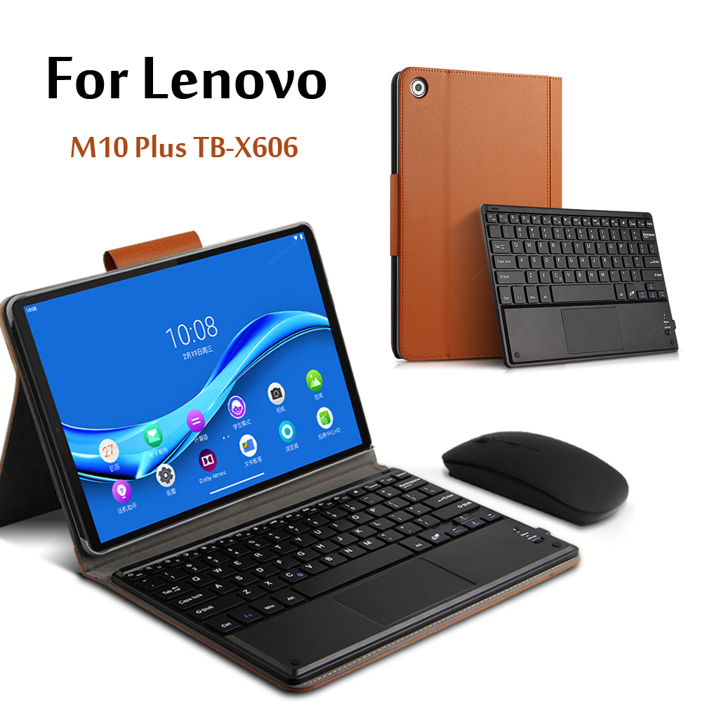 Case For Lenovo Tab M10 FHD Plus Wireless Bluetooth Keyboard TB-X606F TB-X606X 10.3''Tablet Magnetically Detachable Cover