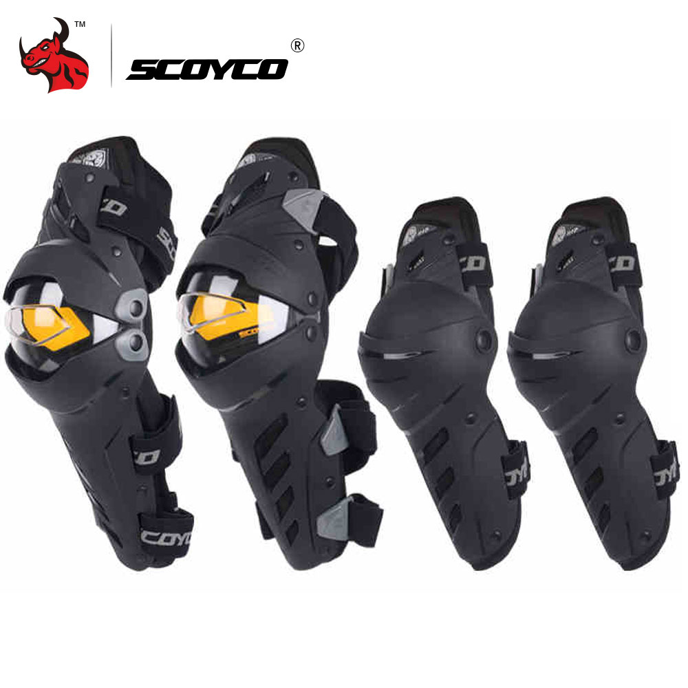SCOYCO Motorcycle Knee Elbow Combo Kneepad For Men Protective Sport Guard Motocross Protector Gear Motocicleta joelheiras