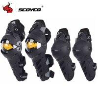 SCOYCO Motorrad Knie Ellenbogen Combo Kneepad Für Männer Schutz Sport Schutz Motocross Schutz Getriebe Motocicleta joelheiras