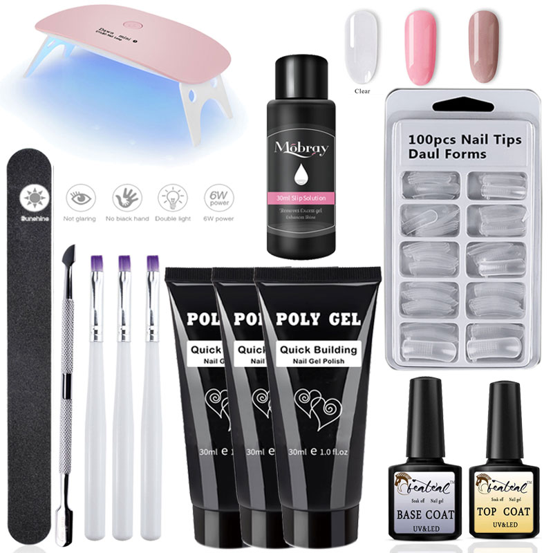 30g Poly Gel Set Nail Polish Art Sale Quick Building Nail Extension UV Gel Varnish Polygel Clear Pink Gel Lacquer Kit