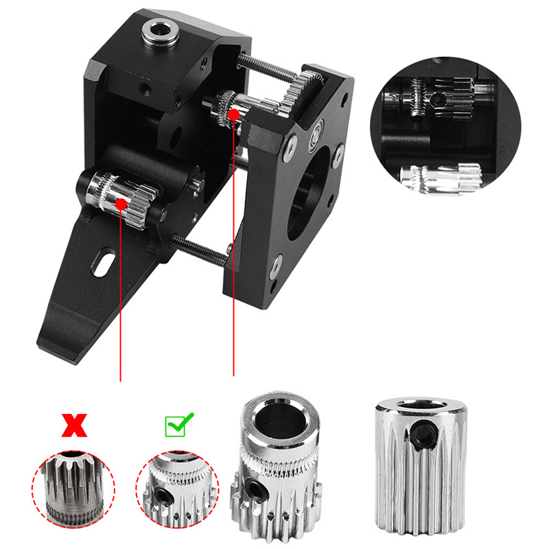 Newest Dual Gear Metal BMG Extruder Bowden Dual Drive Extruder For Mk8 CR-10 Prusa i3 Mk3 Ender 3