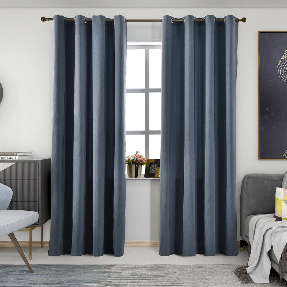 Blackout curtains modern living room curtain solid color drape window treatments ready made full shade hotel blackout drapes