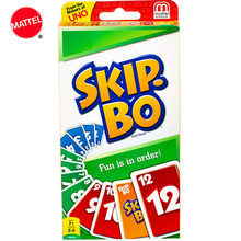 Mattel jeux UNO sauter. BO Fun est en ordre carte de séquençage famille fête Poker divertissement multijoueur cartes à jouer jouets