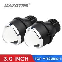 2X3.0 Inch Led Mistlampen Hoge Dimlicht Projector Lens Lampen Voor Mitsubishi Pajero Asx Galant Outlander