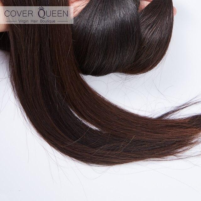 Reina 28 30 32 34 40 pulgadas, pelo brasileño de la armadura del mechones recto 100% extensiones de cabello humano mechones Color Natural Remy extensiones de cabello