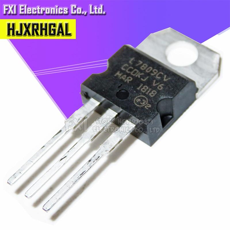 10PCS L7809CV TO220 L7809 TO-220 7809 LM7809 MC7809 안정기 전압 조정기 튜브 새로운 원본