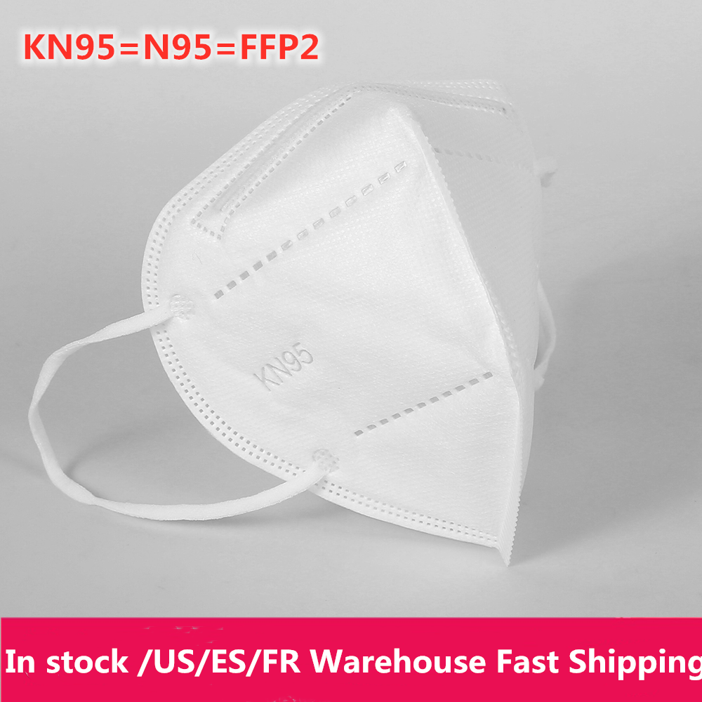 100Pcs KN95 Anti Dust Mask Pm2.5 Filters Respirator Face Mask KN95 Masque mascherine Mouth Nose Protective Mask
