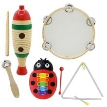 Горячее предложение-5 набор Orff Музыкальные инструменты набор детей Раннее детство музыкальные ударные игрушки комбинация детский сад обучающие средства