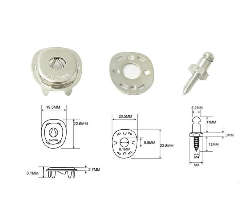 "Backing Plate /& Screw Stud 5//8/"" 25 sets Lift The Dot Fasteners Kit S.S Socket"