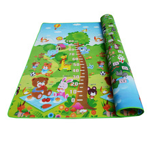 Baby Play Mat 0.5cm Thick Crawling Mat Double Surface Baby Carpet Rug Animal Car+zoo Developing Mat For Children Game Pad double surface baby play mat 200 180 0 3cm crawling mat baby carpet animal car dinosaur developing mat for children game mats