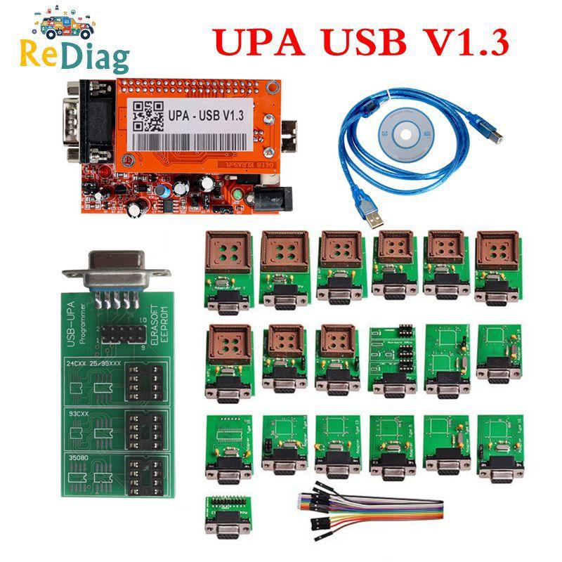 High Quality UPA 2020 UPA Usb Programmer Diagnostic tool UPA USB ECU Programmer UPA USB V1 3 With Full Adapter