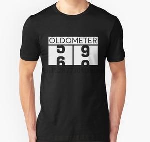 Men tshirt Oldometer Shirt Funny 60th Birthday Age Odometer T Shirt Great Gift for 60 Years Old Grandpa T Shirt(China)