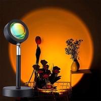 Proyector LED de atardecer, lámpara de ambiente de arco iris, USB, tienda de casa, dormitorio, paredes, decoración, Fondo de foto, luz de noche junto a la cama