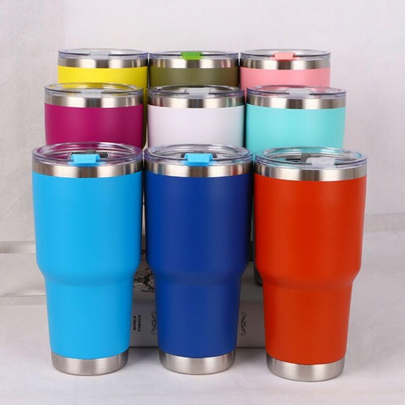 30oz/1000ml Stainless Steel Vacuum Tumbler Insulated Travel Coffee Mug Flasks