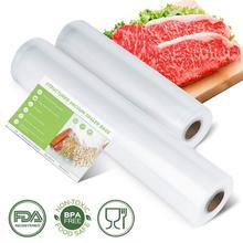 лучшая цена 2 Rolls Kitchen Vacuum Bag For Food Vacuum Sealer Bag Vacuum Packer Storage Bags Food Long Time Keep Fresh Vacuum Machine Bags