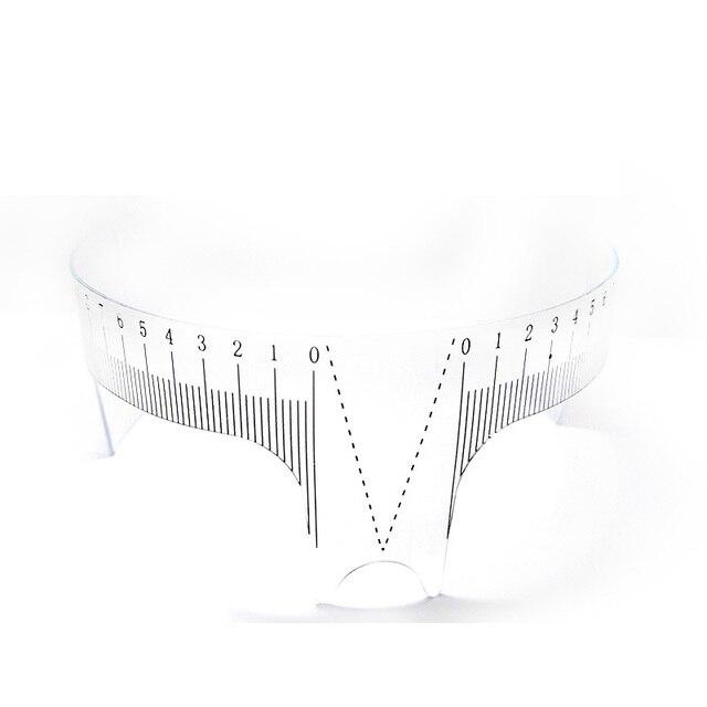 1PC Reusable Semi Permanent Eyebrow Ruler Eye Brow Measure Tool Eyebrow Guide Ruler Microblading Calliper Stencil Makeup 3