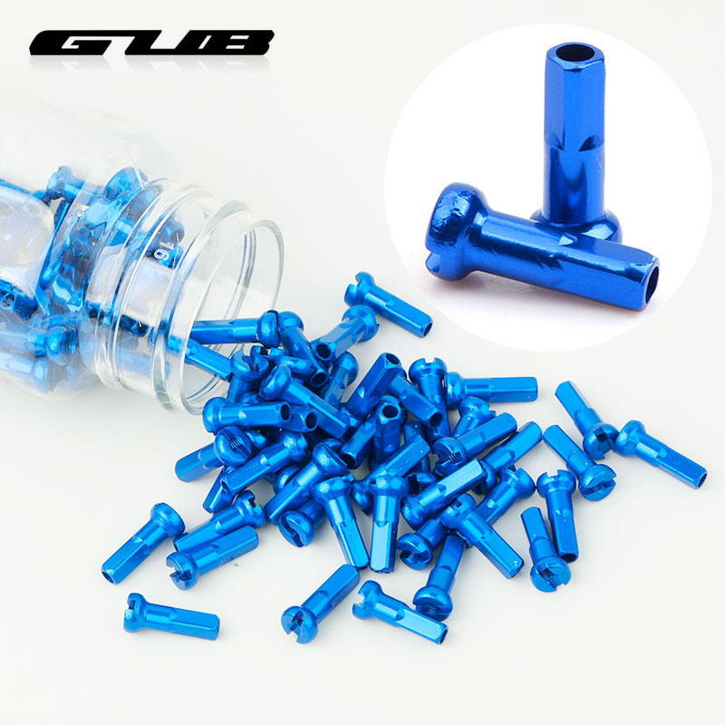 GUB 100PCS Nipples Alloy G14 Spoke Caps Anodized Light Weight Rustic Free Multi-color Options Bicycle Wheel Rim Accessories