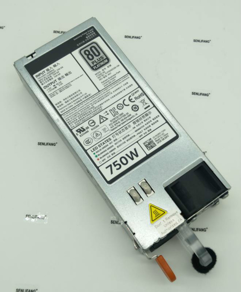 Free Shipping 750W Power Supply For PowerEdge R720 R620 Server 0CWKMX CN-0CWKMX F750E-S0 Will Test Before Shipping