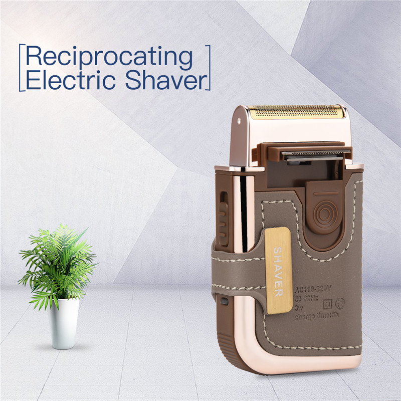 Electric Shaver Reciprocating Cordless Razor Rechargeable Shaving Machine Men Face Care Barber Trimer With Replaceable Foil Head