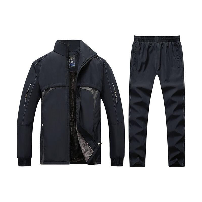 Men's Sets 5XL Outerwear Warm Running Men's Wear Autumn Sportswear Streetwear Two-piece Suite Casual Couple Coat Leisure MOOWNUC