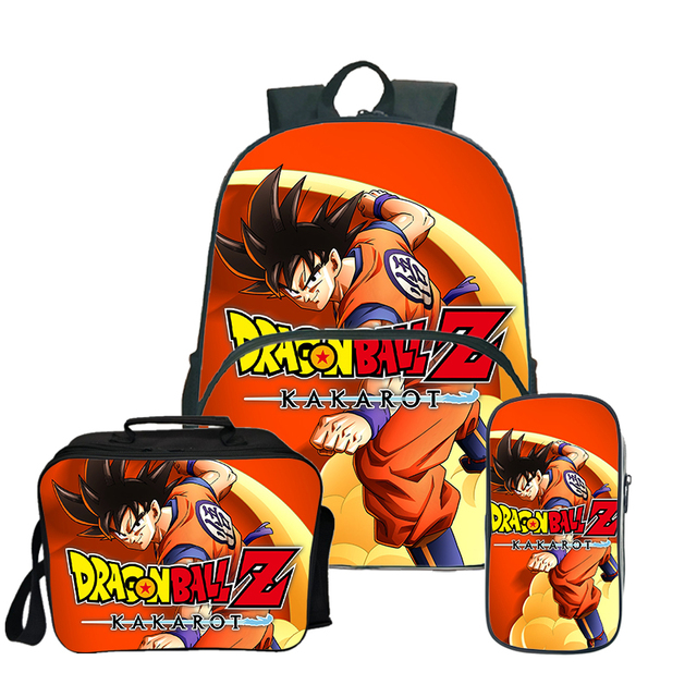 Dragon Ball Super Broly Backpack Pencil Case School Bags  for Teenager Boys Girls  Lunch Backpack 3Pcs/Sets Kids Travel Rucksack