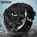 SANDA  новинка  женские спортивные часы  светодиодный  модные  кварцевые  цифровые часы  50 м  водонепроницаемые  S Shock  женские часы  Reloj Mujer