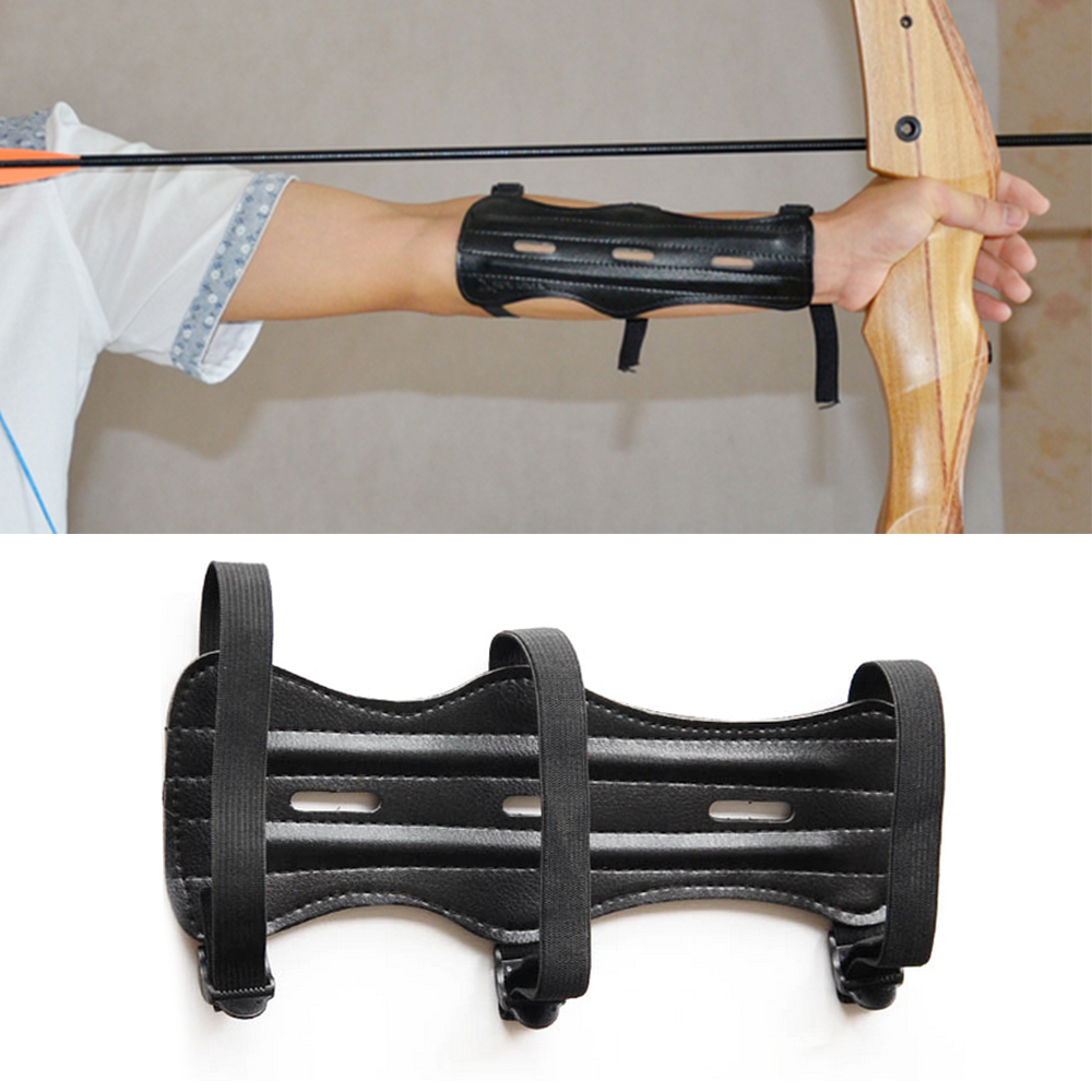 Guard Arm-Protector Bow-Shooting Hunting-Bow Archery 3-Straps with 1pcs
