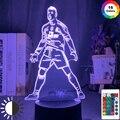 Чехол с изображением Криштиану Роналду фигурный светодиодный ночной Светильник для домашнего декора сенсорный Сенсор Цвет изменение Ночн...