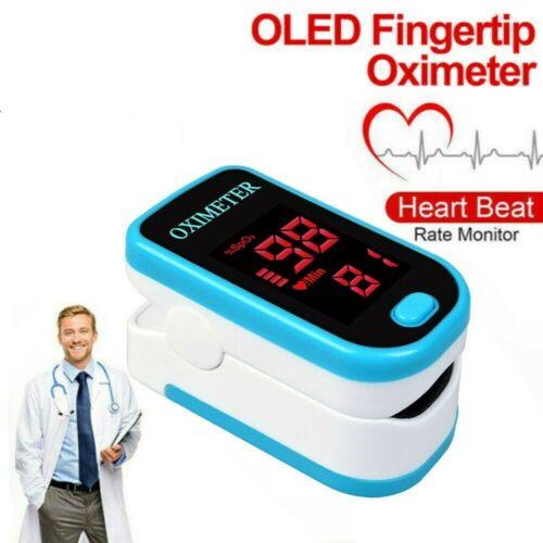 2020 Details About Finger Tip Pulse Oximeter Sensor Blood Oxygen Level SpO2 PR Heart Rate Monitor Free Pouch&Lanyard